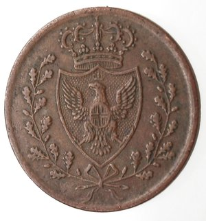 obverse: Casa Savoia. Vittorio Emanuele II. 1859-1861.Bologna. Centesimo 1826.Ae.M.133. BB. R.