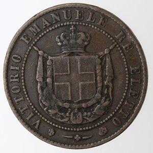 obverse: Casa Savoia. Vittorio Emanuele II. 1859-1861.Re Eletto.5 centesimi 1859.Ae.Gig. 17. BB.