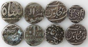 obverse: Monete Estere. India. Lotto di 8 monete. XVIII-XIX sec. Ag. Da catalogare. Mediamente BB.
