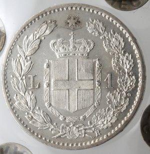 reverse: Casa Savoia. Umberto I. 1878-1900. Lira 1899. Ag. Gig. 40. FDC. Periziata Negrini. NC.