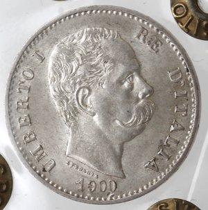 obverse: Casa Savoia. Umberto I. 1878-1900. Lira 1900. Ag. Gig. 41. FDC. Periziata Marco Esposito.