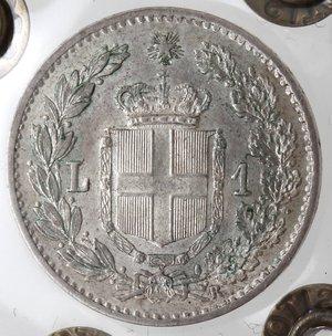 reverse: Casa Savoia. Umberto I. 1878-1900. Lira 1900. Ag. Gig. 41. FDC. Periziata Marco Esposito.