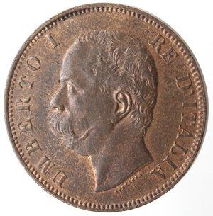 obverse: Casa Savoia. Umberto I. 1878-1900. 10 centesimi 1893 Birmingham. Ae. Gig. 48. qFDC. Rame rosso.
