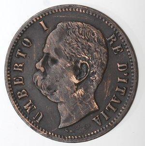 obverse: Casa Savoia.Umberto I. 1878-1900.2 centesimi 1895. Ae.Gig. 53. MB+. Graffi al diritto. R..