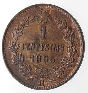 reverse: Casa Savoia. Umberto I. 1878-1900. Centesimo 1895. Ae. Gig 58. qFDC. Rame rosso.