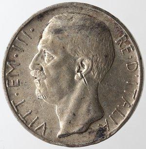 obverse: Casa Savoia. Vittorio Emanuele III. 1900-1943. 10 lire 1927 Biga due rosette. Ag. Gig. 56a. BB. Graffio al diritto.