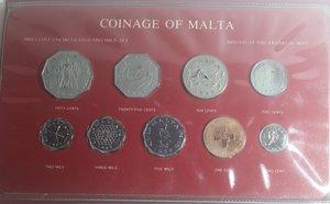 obverse: Monete Estere. Malta. Serie Specimen 1982. 9 valori. FDC. Molto rara.