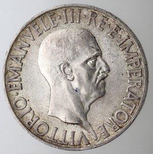 obverse: Casa Savoia. Vittorio Emanuele III. 1900-1943.10 lire 1936 Impero. Ag. Gig. 64. SPL. Lievi graffietti sulla testa.