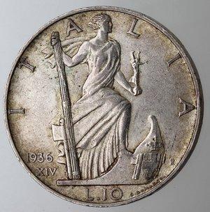 reverse: Casa Savoia. Vittorio Emanuele III. 1900-1943.10 lire 1936 Impero. Ag. Gig. 64. SPL. Lievi graffietti sulla testa.