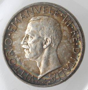 obverse: Casa Savoia. Vittorio Emanuele III.1900-1943.5 Lire 1929 Aquilino. Ag. Gig. 76.SPL.