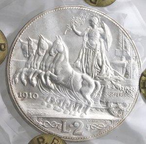 reverse: Casa Savoia. Vittorio Emanuele III. 1900-1943. 2 lire 1910. Quadriga Briosa. Ag. Gig. 97.FDC Ezzezionale. Perizia Testa. R.