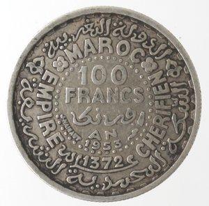 obverse: Monete Estere. Marocco. 100 Franchi 1953. Ag. Km E52. Peso. gr. 3,95. SPL.