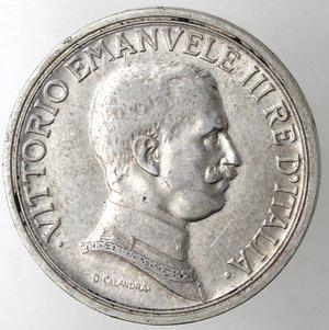 obverse: Casa Savoia. Vittorio Emanuele III.1900-1943.2 lire 1914 Quadriga briosa. Ag. Gig. 101.BB+.