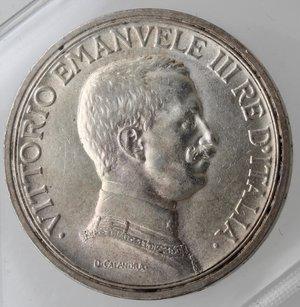 obverse: Casa Savoia. Vittorio Emanuele III. 1900-1943. 2 lire 1916 Quadriga Briosa. Ag. Gig. 103. SPL.