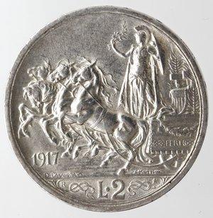 reverse: Casa Savoia. Vittorio Emanuele III. 1900-1943. 2 lire 1917 Quadriga Briosa. Ag. Gig. 104. qSPL. NC.