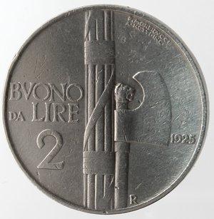 reverse: Casa Savoia. Vittorio Emanuele III. 1900-1943.Buono da 2 lire 1925. Ni. Gig. 107. qSPL