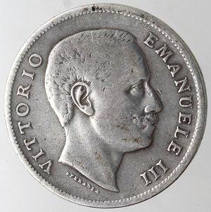 obverse: Casa Savoia. Vittorio Emanuele III. 1900-1943.Lira 1907 Aquila Sabauda. Ag. Gig. 131.qBB.