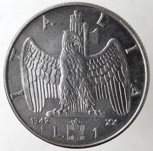 reverse: Casa Savoia. Vittorio Emanuele III. 1900-1943.Lira Impero 1942 anno XX Magnetiche. Ac. Gig. 158.FDC.