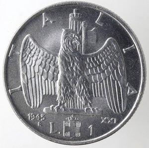 reverse: Casa Savoia. Vittorio Emanuele III. 1900-1943. Lira Impero 1943 anno XXI. Ac. Gig. 159.SPL+. R.