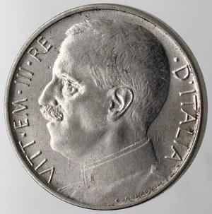 obverse: Casa Savoia. Vittorio Emanuele III. 1900-1943.50 centesimi 1920 Leone. Bordo liscio. Ni. Gig. 164.qSPL. Graffietto al diritto.