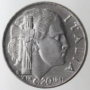 reverse: Casa Savoia. Vittorio Emanuele III. 1900-1943. 20 centesimi 1941 Anno XIX Impero. Magnetica. Ac. Gig. 221. FDC Eccezionale. Da rotolino.