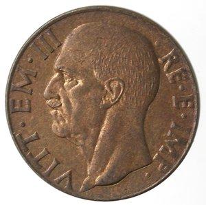obverse: Casa Savoia. Vittorio Emanuele III. 1900-1943.10 centesimi 1943 XXI Impero. Ae. Gig. 255.qFDC. Rame rosso.