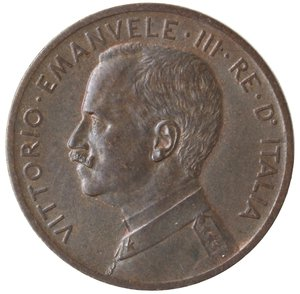 obverse: Casa Savoia. Vittorio Emanuele III. 1900-1946.5 Centesimi 1908 Italia su prora. Ae. Gig. 257. qSPL. R.