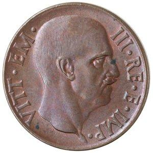obverse: Casa Savoia. Vittorio Emanuele III. 1900-1943. 5 centesimi 1936 Anno XIV Impero. Ae. Gig. 284. qFDC. NC.