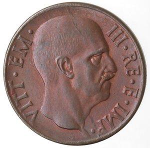 obverse: Casa Savoia. Vittorio Emanuele III. 1900-1943.5 Centesimi 1938 Anno XVI. Impero. Ae. Gig. 286. qFDC. Rame rosso.