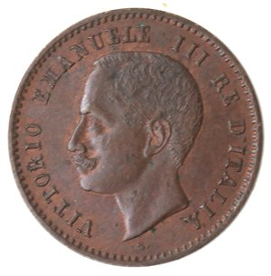 obverse: Casa Savoia. Vittorio Emanuele III. 1900-1943.2 centesimi 1903 valore. Ae. Gig. 293.qFDC. Tracce di rame rosso.