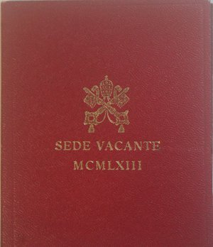 obverse: Vaticano.Sede Vacante 1963. 500 lire. Ag. Gig. 275. FDC. Confezione originale della zecca.
