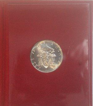 reverse: Vaticano.Sede Vacante 1963. 500 lire. Ag. Gig. 275. FDC. Confezione originale della zecca.