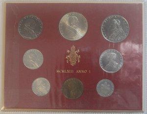obverse: Vaticano. Paolo VI. 1963-1978. Serie divisionale 1963 Anno I. Gig. 276. Serie in Confezione originale della zecca. FDC.