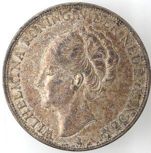 obverse: Monete Estere. Olanda. Guglielmina. 1948-1962. 2,5 Gulden 1934. Ag 720. Peso 25,00 gr. SPL. Patinata.