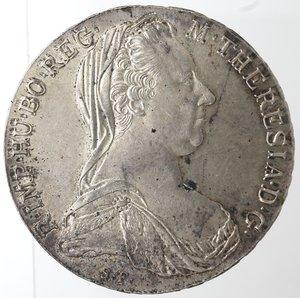 obverse: Monete Estere. Austria. Maria Teresa. Tallero di convenzione 1780 (Riconio). Ag. Peso gr. 28,08. Diametro mm. 40,80. FDC.