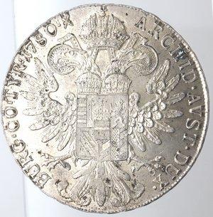 reverse: Monete Estere. Austria. Maria Teresa. Tallero di convenzione 1780 (Riconio). Ag. Peso gr. 28,08. Diametro mm. 40,80. FDC.