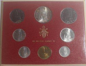 obverse: Vaticano. Paolo VI. 1963-1978. Serie divisionale 1966 Anno IV. Gig. 279. Serie in Confezione originale della zecca. FDC.