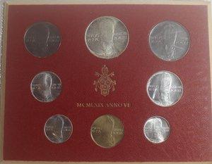 obverse: Vaticano. Paolo VI. 1963-1978. Serie divisionale 1969 Anno VII. Gig. 282. Serie in Confezione originale della zecca. FDC.