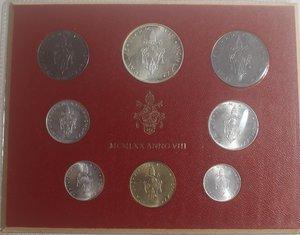 obverse: Vaticano. Paolo VI. 1963-1978. Serie divisionale 1970 Anno VIII. Gig. 283. Serie in Confezione originale della zecca. FDC.
