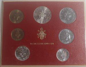 obverse: Vaticano. Paolo VI. 1963-1978. Serie divisionale 1978 Anno XVI. Gig. 292. Serie in Confezione originale della zecca. FDC.