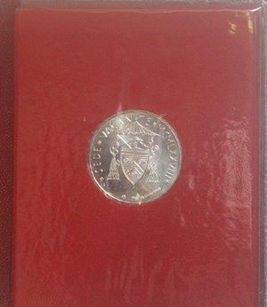 reverse: Vaticano.Sede Vacante 1978. 500 lire. Ag. Gig. 303. FDC. Confezione originale della zecca.