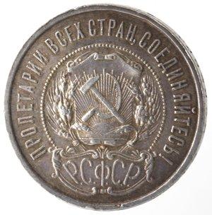 obverse: Monete Estere. Russia. 50 Kopeki 1922. Ag 900. Y#83. Peso gr. 10,00. BB+. Patina.