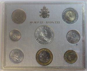 obverse: Vaticano. Giovanni Paolo II. 1978-2005. Serie divisionale 1999. Anno XXI. Confezione originale della zecca. Gig. 368. FDC