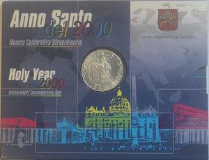 obverse: Vaticano. Giovanni Paolo II. 1978-2005. 2000 Lire Anno Santo 2000. Ag. Confezione originale della zecca. Gig. 340. FDC