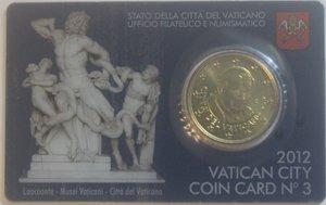 obverse: Vaticano. Benedetto XVI. 2005-2013. Coin Card n° 3. 50 centesimi di euro 2012. Br. FDC.