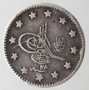obverse: Monete Estere. Turchia. Kurush. Ag. 830. Peso gr. 1,14. BB.