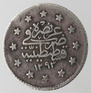 reverse: Monete Estere. Turchia. Kurush. Ag. 830. Peso gr. 1,14. BB.
