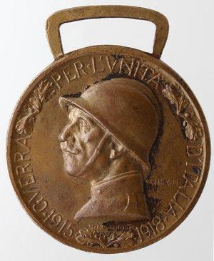 obverse: Medaglie. Vittorio Emanuele III. 1900-1943. I Guerra Mondiale. Medaglia 1918. Coniata nel bronzo nemico. Ae. Diametro mm. 33. qSPL.