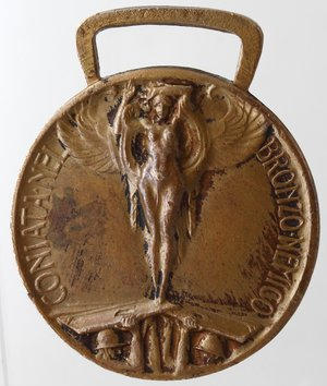 reverse: Medaglie. Vittorio Emanuele III. 1900-1943. I Guerra Mondiale. Medaglia 1918. Coniata nel bronzo nemico. Ae. Diametro mm. 33. qSPL.
