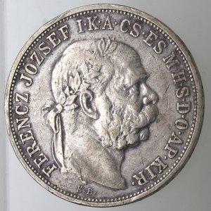 obverse: Monete Estere. Ungheria. Francesco Guseppe. 1848-1916. 5 Korona 1908. Ag 900. Km. 488. Peso gr. 23,94. BB.
